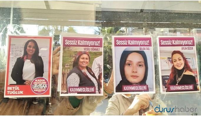 Öldürülen kadınların fotoğraflarını asan kadınlara para cezası