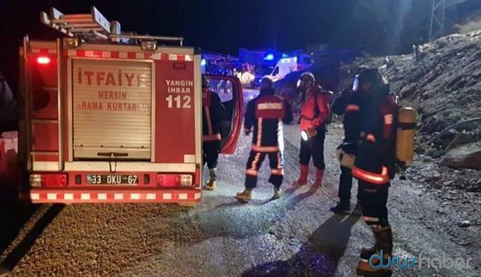 Tünel inşaatında yangın çıktı, 8 işçi hastaneye kaldırıldı
