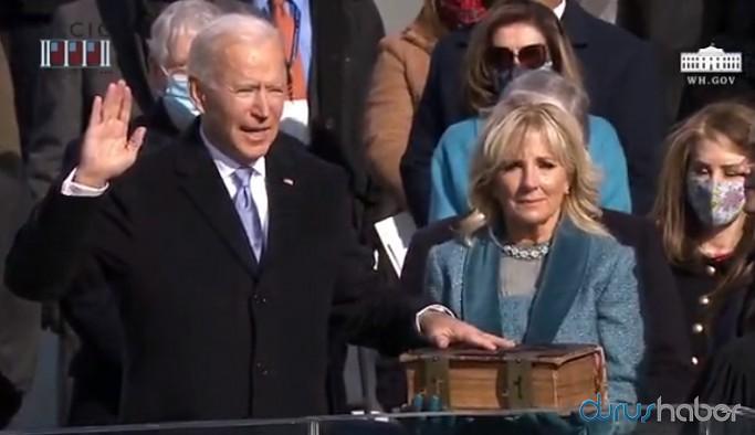 Yemin ederek göreve başlayan Joe Biden'den ilk açıklama