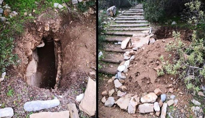 3 bin 500 yıllık tarihi kenti talan ettiler