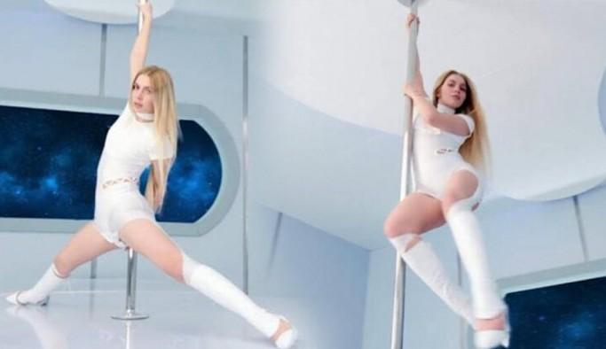 Aleyna Tilki'nin direk dansı sosyal medyayı salladı
