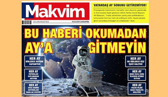 DEVA Partisi'nden 'Makvim' manşeti: Bu haberi okumadan Ay'a gitmeyin