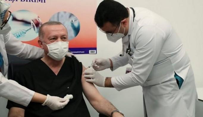 Erdoğan ikinci doz koronavirüs aşısı oldu