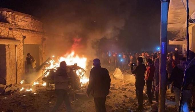 Ezaz'da patlama: 10 yaralı