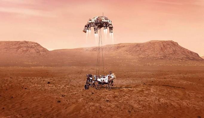 NASA Perseverance'ın iniş anından görüntü paylaştı