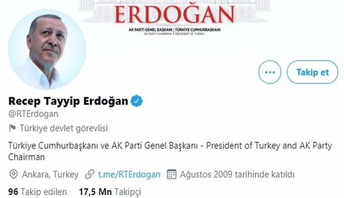 Twitter Erdoğan'ı 'devlet görevlisi' diye etiketledi, Pelikan'ın hesabını da askıya aldı