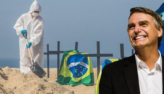 Bolsonaro hafif gribe benzetmişti: Brezilya'da günlük can kaybı 3 bini aştı