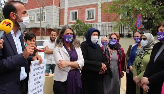 HDP ve HDK'li kadınlar, 'adalet nöbeti'ndeki Şenyaşar ailesini ziyaret etti