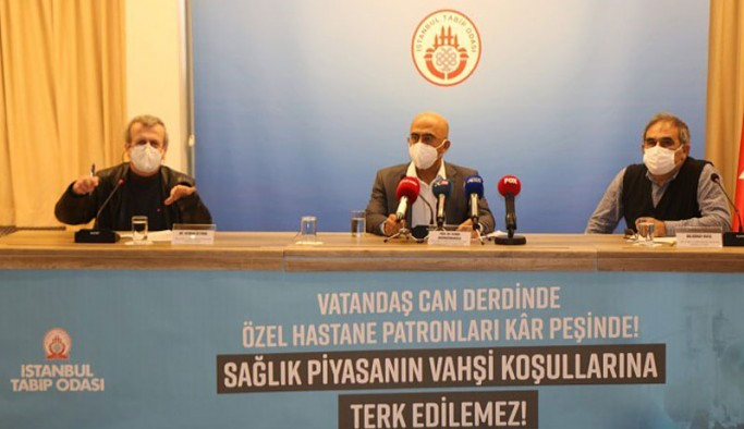 İstanbul Tabip Odası: Özel hastaneler salgını fırsata çevirmeye çalışıyor