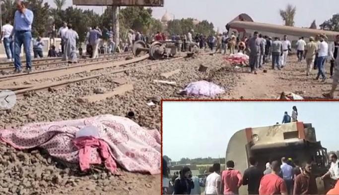 Mısır'da yolcu treni raydan çıktı: Çok sayıda ölü ve yaralı var