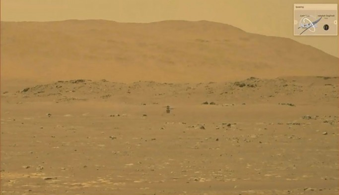 NASA: Mars'ta helikopter uçuşu başarılı oldu