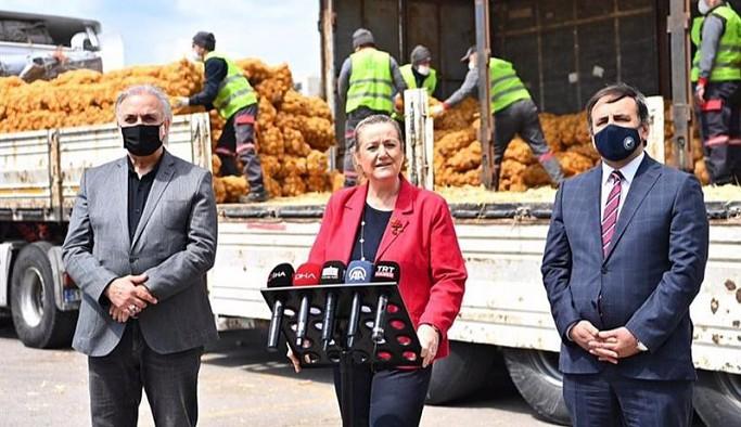 Şova dönüştürülen dağıtıma tepki: Patates soğan utandı, bunlar utanmadı