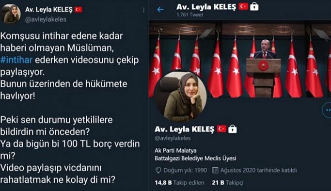 AKP'li Meclis Üyesi intiharlar nedeniyle iktidarı eleştirenlere hakaret etti