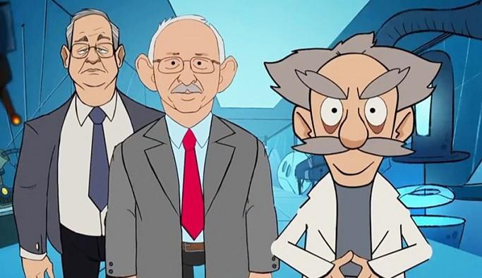 AKP'nin CHP'yi hedef alan animasyonu, partideki pek çok isim tarafından paylaşılmadı