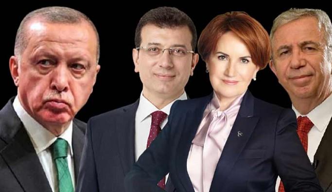 Anket: Yavaş, İmamoğlu ve Akşener Erdoğan'ı geçti