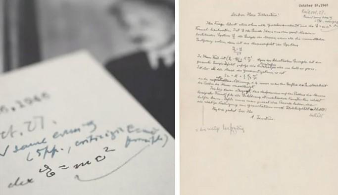 Einstein'ın el yazısıyla yazdığı E=mc²'li mektup satışa çıkıyor