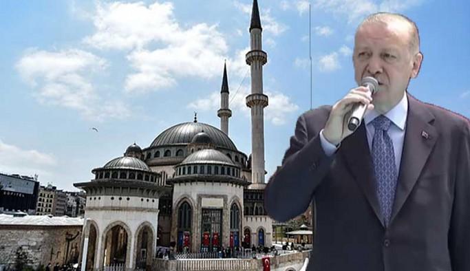 Erdoğan Taksim Camii'nin açılışında Gezi eylemlerini hedef aldı