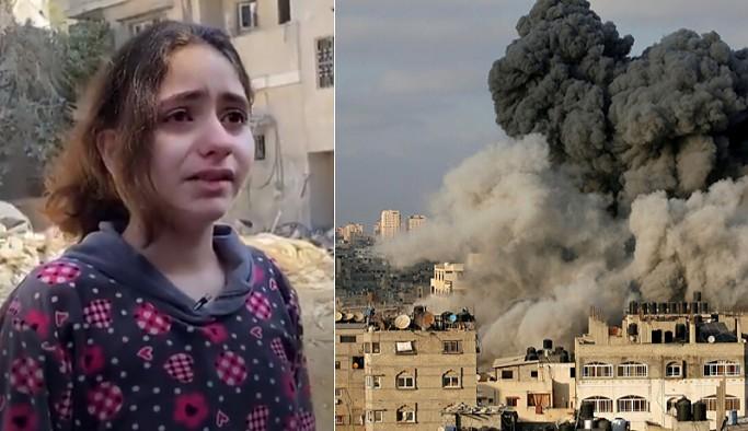 Evi bombalanan Filistinli kız çocuğu: Sadece bir çocuğum, neden füze atarak çocukları öldürüyorsunuz?