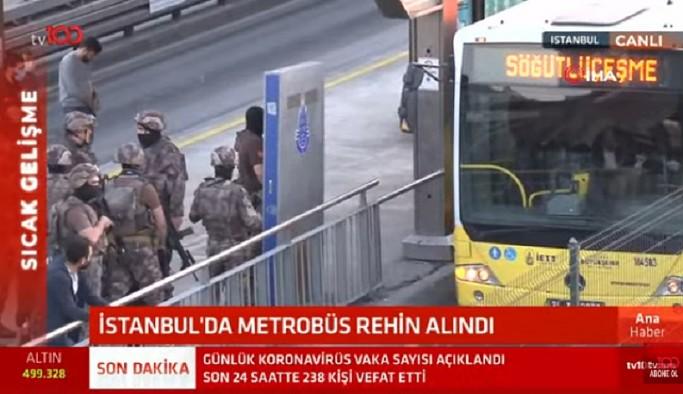 İstanbul'da sıcak saatler! Metrobüste rehine krizi