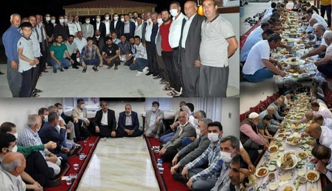 Sokağa çıkma yasağını delen AKP'liler mesafesiz yemek sonrası toplu hatıra fotoğrafı çektirdi