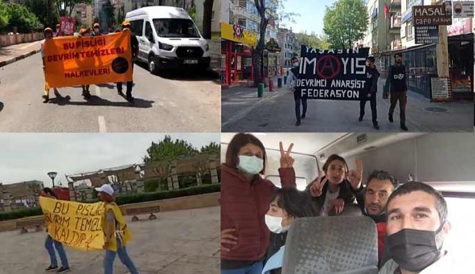Türkiye'nin dört bir yanında yasaklı meydanlar zorlandı: Her yer Taksim, her yer 1 Mayıs