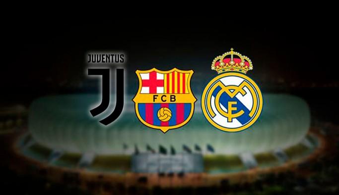 UEFA'dan Real Madrid, Barcelona ve Juventus'a disiplin soruşturması