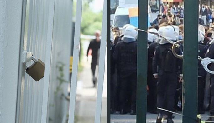Boğaziçili öğrencilere polis müdahalesi: Güvenlik okulun kapısına asma kilit vurdu