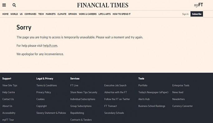 Dünya genelinde haber siteleri çöktü