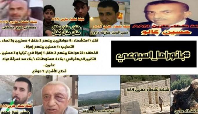 Efrin'de 12 günde 8 kişi katledildi