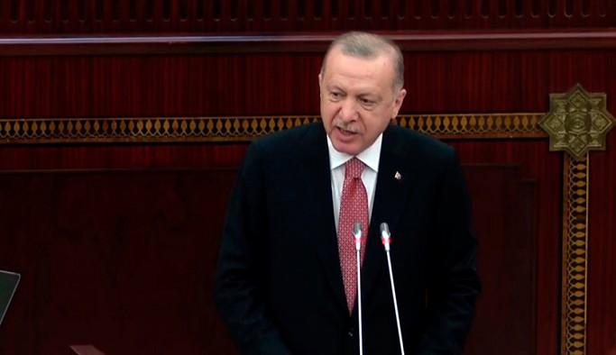 Erdoğan Azerbaycan Meclisi'nde konuşuyor: Tüm dünya bilsin, yanınızdayız