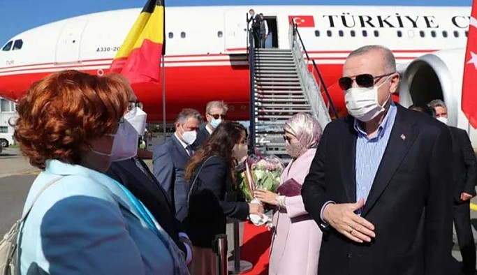 Erdoğan, NATO Zirvesi için Brüksel'de
