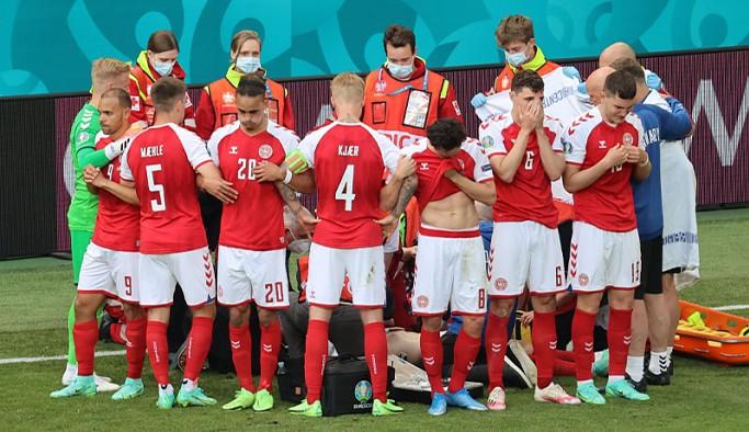 EURO 2020'de Danimarkalı oyuncu Eriksen fenalaştı