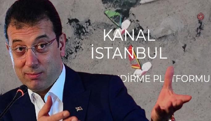 İktidarın Kanal İstanbul internet sitesinin ardından İBB'den karşı hareket