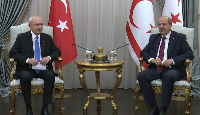Kılıçdaroğlu, KKTC Cumhurbaşkanı Tatar, Başbakan Saner ve Meclis Başkanı Sennaroğlu ile görüştü