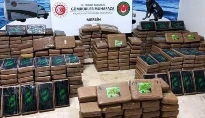 Mersin Limanı'na yanaşan gemide 463 kilo kokain daha ele geçirildi