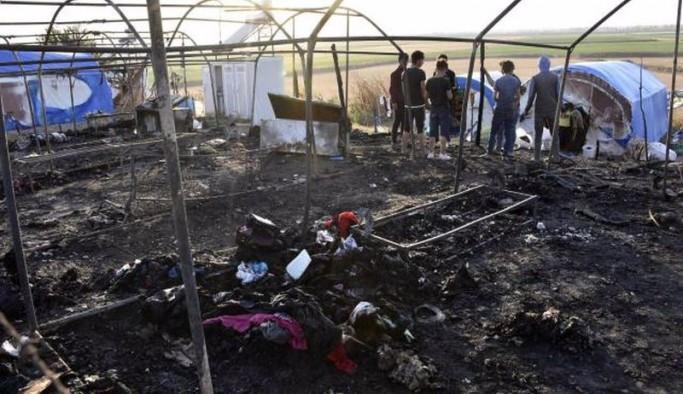 Bursa'da mevsimlik tarım işçilerinin çadırları yandı