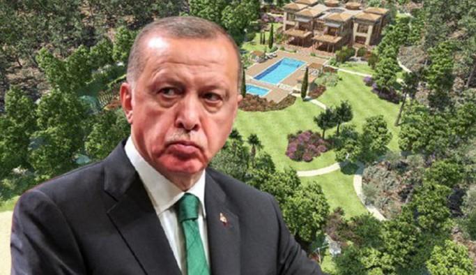 Erdoğan'ın 'Yazlık Sarayı'nın görselleri paylaşıldı