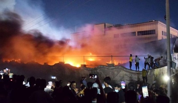 Irak'ta Covid-19 hastalarının kaldığı hastanedeki yangında can kaybı 58'e yükseldi