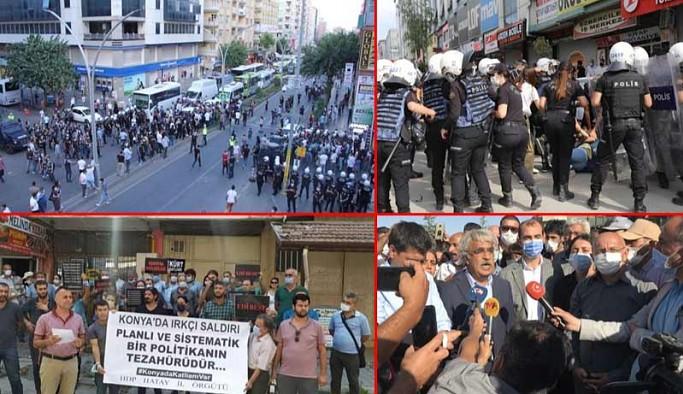 Konya'daki ırkçı katliam Türkiye'nin dört bir yanında protesto edildi