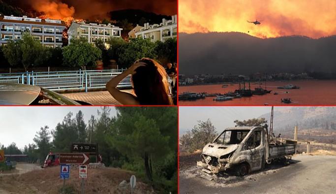 Orman yangınları 3'üncü günde de devam ediyor: 71 yangınından 57'sini kontrol altına alındı