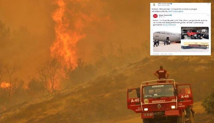 AKP, sosyal medyada tepki çeken 'yangın' paylaşımını sildi