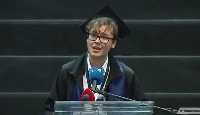 İTÜ birincisinin mezuniyet konuşması: Hegemonların elinde yozlaşmış sistemi değiştireceğiz
