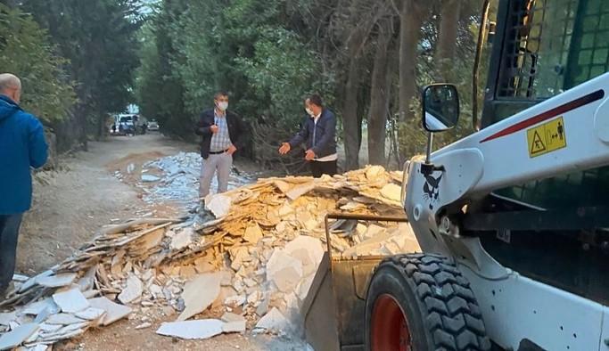 Validebağ Korusu'na kepçe ve kamyonlarla şafak baskını: Hukukçu başkan polis eşliğinde katliam yapıyor