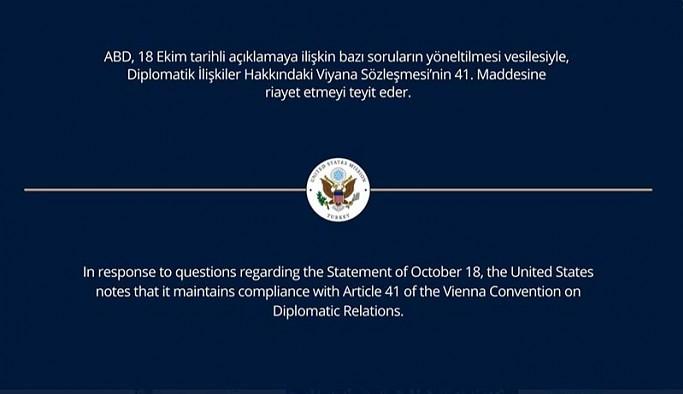 10 büyükelçilikten 'Viyana Sözleşmesi' mesajı