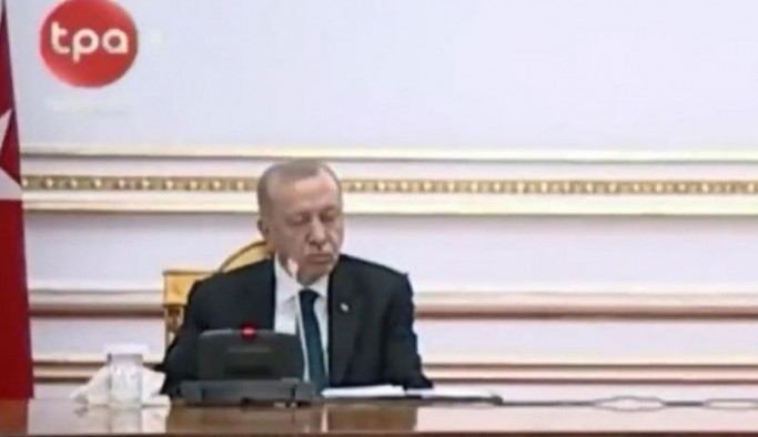 Erdoğan yine uyuyakaldı