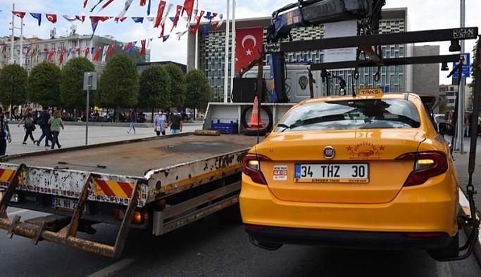 İstanbul'da turisti almayan taksi trafikten men edildi