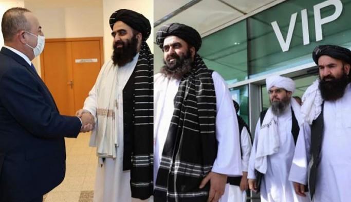 Taliban heyeti ile görüşen Çavuşoğlu açıklama yaptı