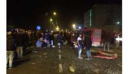 İşçi servisi ciple çarpıştı:  1 kişi hayatını kaybetti, 14 kişi de yaralandı.