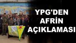 Afrin yönetimi ve YPG'den açıklama