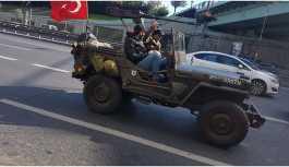 Uçaksavarlı askeri cipin sürücüsü yakalandı